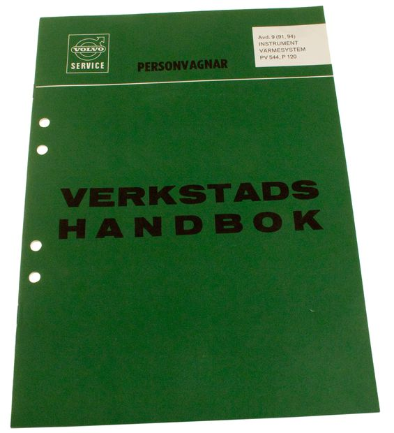 Workshop manual Instrument/heater 544/21 in the group Volvo / Volvo PV/Duett / Miscellaneous / Literature / Literature 210 at VP Autoparts AB (10361)