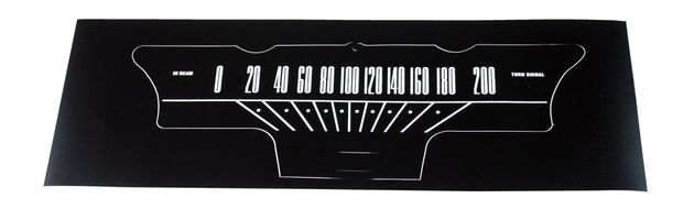 Decal Speedometer 64-65 KM in the group Ford/Mercury / Ford Mustang 65-73 / Stripe kits/decals / Decals / Speedometer overlays at VP Autoparts AB (C5DF-17265-KM)