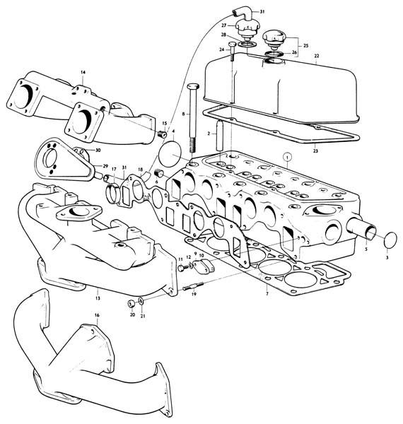 Volvo / Engines Volvo / Volvo B18 / Cylinder head B18 | Volvo B18 Engine Diagram |  | VP Auto Parts