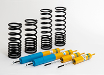 Suspension and shock absorber